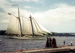 The Harvey Gamage on Bath's Kennebec River